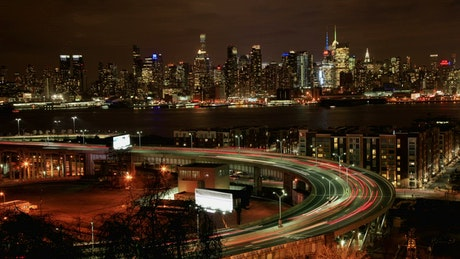 Traffic around the Lincoln Tunnel