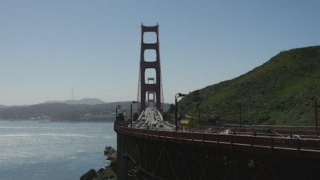 Traffic at The Golden Gate Bridge