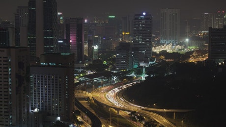 Traffic heading away from Kuala Lumpur