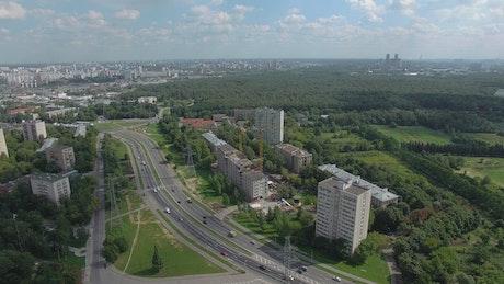 Traffic heading towards Moscow
