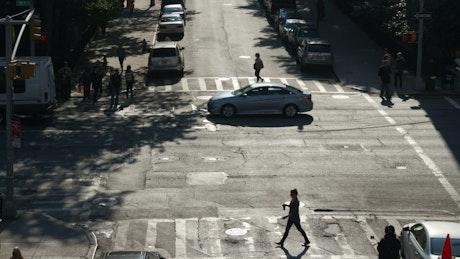Traffic in a crossroads