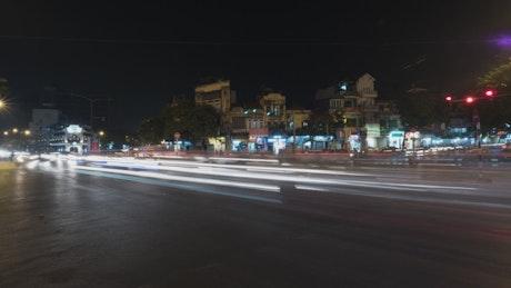 Traffic lights through Hanoi