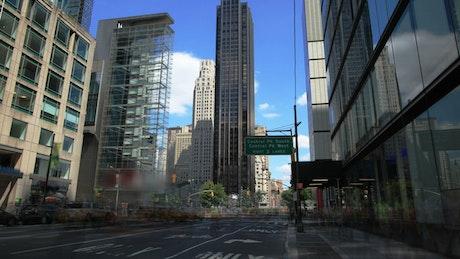 Traffic moving through New York