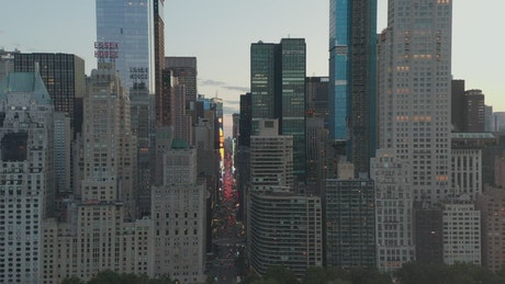 Traffic on 7th Avenue in Times Square