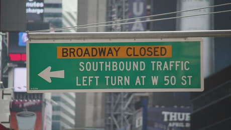 Traffic signs throughout New York