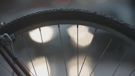 Traffic through a bike wheel