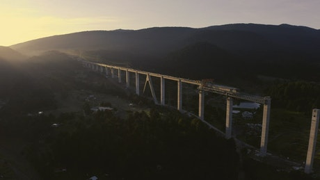 Train bridge under construction