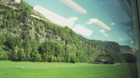 Train trip through nature