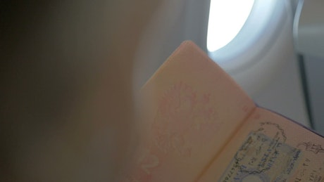 Travel stamps in a passport
