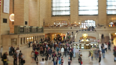 Travelers at the Grand central station