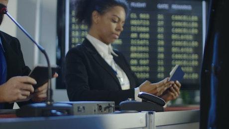 Travelers using fingerprints for registration