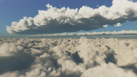 Traveling at high speed through clouds 3D