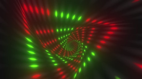 Traveling through a tunnel of light triangles