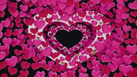 Traversing Heart Shaped Frames and Small Hearts