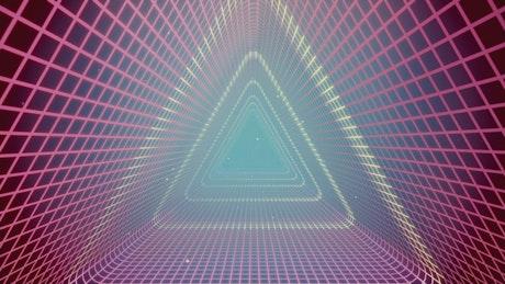 Triangular cyberpunk tunnel, loop video