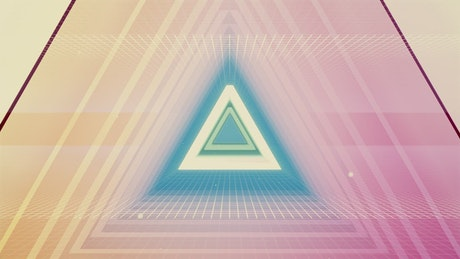 Triangular spinning cyberpunk tunnel