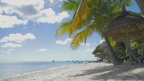 Tropical beach with calm water