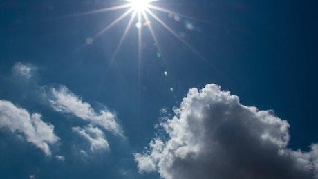Tropical blue sky