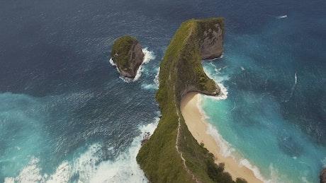 Tropical cliff on the beach