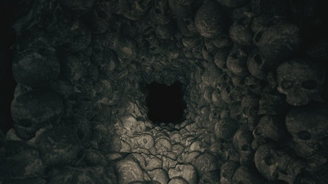 Tunnel full of skulls