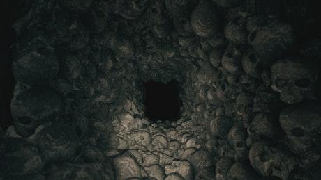 Tunnel full of skulls