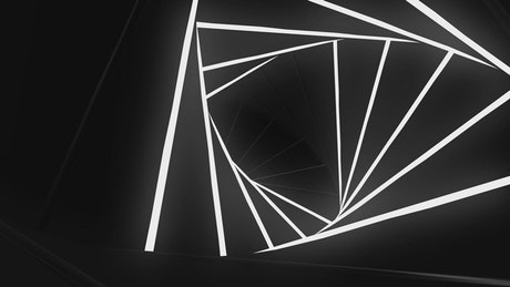 Tunnel of triangles lighting up