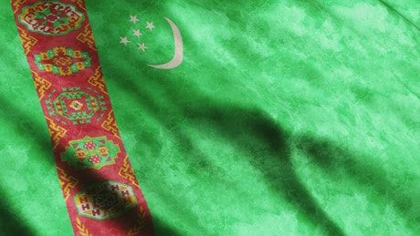 Turkmenistan flag from Asia