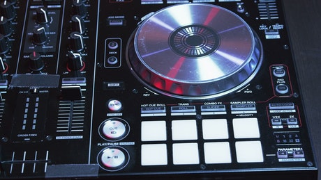 Turntables and silver buttons