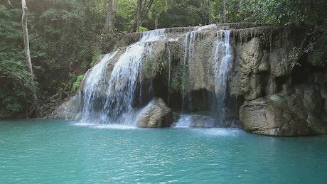 Turquoise waterfalls