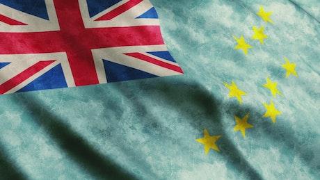 Tuvalu flag, full screen