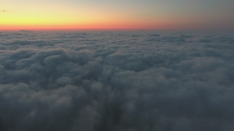 Twilight above the clouds
