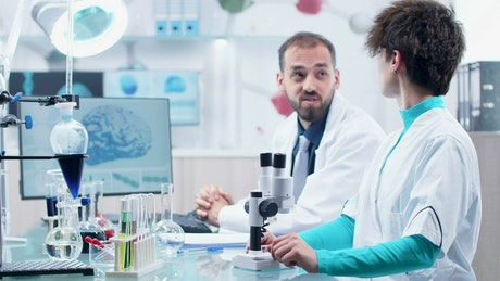 Two men working in a laboratory