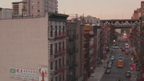 Typical New York Chinatown street