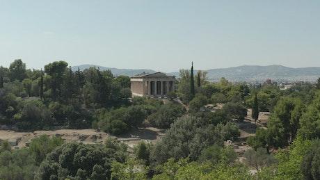 Typical temple of the Greco-Roman civilization