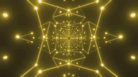 Undergoing stars made of lines and dots of light