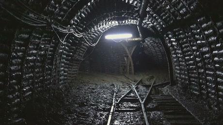 Underground dark mine