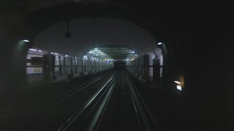 Underground subway train