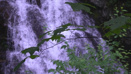 Unfocused waterfall shot in slow motion