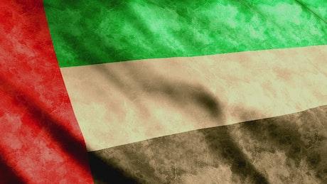 United Arab Emirates 3D flag