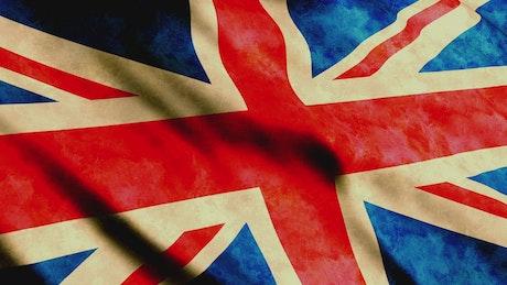 United Kingdom of Great Britain waving flag