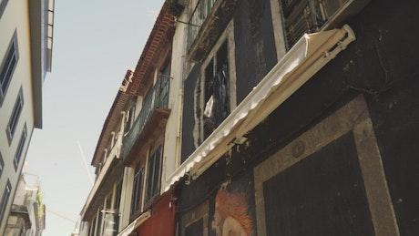 Urban architecture of a tourist street