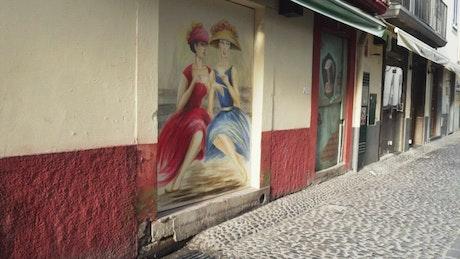 Urban art of portrait paintings