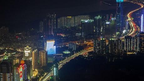 Urban city scape of Shenzhen