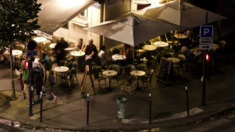 Urban coffee shop