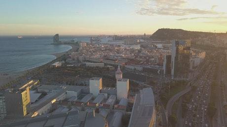 Urbanization on the coasts of Barcelona