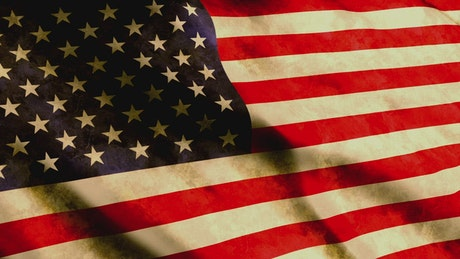USA country flag in 3D animation