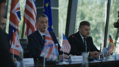 USA spokesman in an international conference