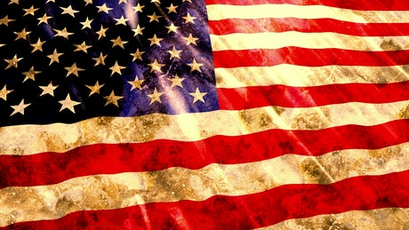 USA worn and dirty flag