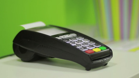 Using a bank terminal during a card payment