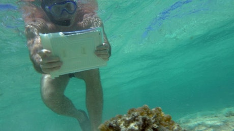 Using a tablet underwater
